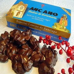 Chocolate candies with almonds