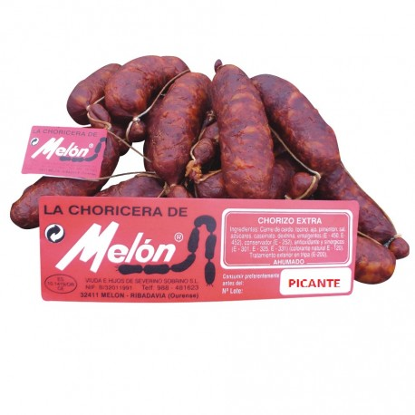 Smoked Galician sausage